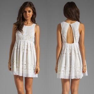NWT Free People Rocco Open Back Lace Dress White 0